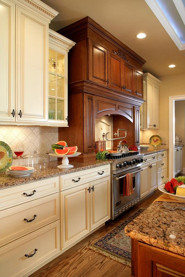 antique-white-kitchen-cabinets-baltic-brown-granite-countertops-kitchen-ideas